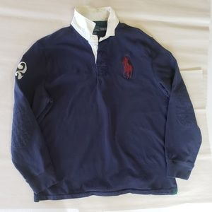 Vtg Polo Ralph Lauren XL Long Sleeve Rugby Style